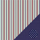 Three Bugs To the Rescue Stripe 12x12 Papers 2 pcs