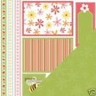 Three Bugs Little Chick Spring Cut outs 12x12 Papers