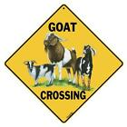 Goat Crossing Sign NEW 12X12 Metal Nanny Billy