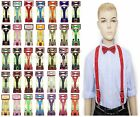 Suspender and Bow Tie Set for Baby Toddler Kids Boys Girls Child USA Seller