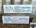 LARGE Rustic Primitive Sign For This Child Nursery Religious Distressed Wooden