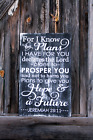 LARGE Rustic Wood Sign For I Know The Plans Faith Country Religious Farmhouse