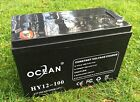 OCEAN HY12 100 12V 100AH AGM SLA DEEP CYCLE BATTERY FOR SOLAR WIND VRLA 12V 24V