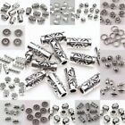 50 100pcs Silver Plated Loose Spacer Beads Charms Jewelry Making Findings DIY