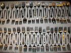 75 VTG CRAFT GRADE SILVER PLATE COLD MEAT FORKS FLATWARE ART JEWELRY  LOT *45