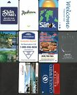 LOT of 10 different USED HOTEL ROOM PLASTIC KEY CARDS USA