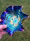 Imperial SCROLL ANTIQUE CARNIVAL ART GLASS RUFFLED BOWL