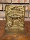 RARE DECO ANTIQUE 1920'S BRADLEY HUBBARD CAST IRON BOOKEND MT. PLEASANT DOORWAY