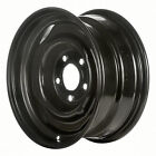 01104 Refinished 15in Black Steel Wheel Fits 1980 1989 Pontiac Bonneville