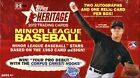 2012 Topps Heritage Minor League Baseball Hobby Box Look for Joc Pederson