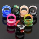 7PAIRS/9PAIRS-THIN SOFT SILICONE-EAR GAUGES-EAR PLUGS EXPANSER-DOUBLE FLARED