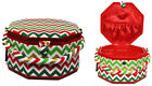 Suzy's Hobby Baskets Large Christmas Chevron Sewing Basket SB013