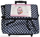 Sewing Machine Trolley Navy and White Polka Dot