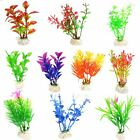 10 Pcs Color Realistic Decorative Aquarium Fish Tank Ornament Plastic Plants