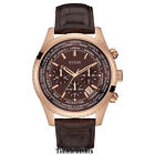 NEW GUESS WATCH for Men * Chronograph * Brown Leather Strap * Date * U0500G3