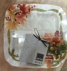 222 Fifth Autumn Celebration Appetizer Plates Set Of 4 Thanksgiving New