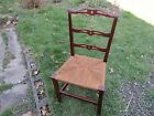 Antique Mahogany Country Chippendale Ribbon Back Chair 19th Century