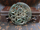 Rare Chinese antique jade pendant - hand-carved dragon talisman S722