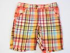 Gymboree Jungle Gem Frayed Hem Plaid Bermuda Shorts 5