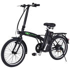 20 250W 36V Folding Electric Mountain Bicycle EBike Speed Lithium Battery Black