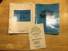 Doctor Who pinball manual set with schematics and handbook