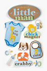 PAPER HOUSE MOMMYS LITTLE MAN BABY BOY DIMENSIONAL 3D SCRAPBOOK STICKERS