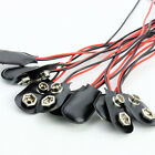 10pcs PP3 MN1604 9V 9volt Battery Holder Clip Snap On Connector Cable Lead