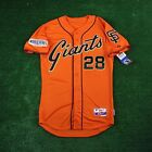 2014 BUSTER POSEY San Francisco Giants AUTHENTIC World Series Alt Orange Jersey