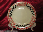 Gibson Coca Cola Diner Salad Plates Red And Black Checks Very Good Condition