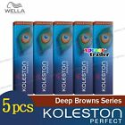 5 x Wella Koleston Perfect Haarfärbemittel hair Color Dye 60g Deep Brown