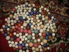 PICK 5 CHINA/CLAY MARBLES COLORED/GLAZED/UNGLAZED:PICK5