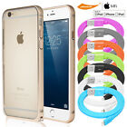 Slim Case w/Signal Hole+Lightning USB Cable+9H Glass Screen For iPhone 6 6s Plus
