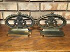 HUBBARD CAST IRON BOOKENDS FLORAL URN BASKET