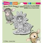 House Mouse Daisy Mouse Rubber Cling Stamp Halloween