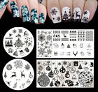 4pcs set Born Pretty Christmas Nail Art Stamping Template Image Plates Manicure