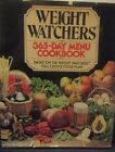 Weight Watchers 365 Day Menu CookbookHardcover DJ First printing OCT 1981