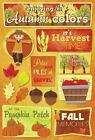 KAREN FOSTER DESIGN AUTUMN COLORS FALL LEAVES CARDSTOCK SCRAPBOOK STICKERS