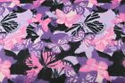 PINK PURPLE BUTTERFLYS CAMO FLANNEL FABRIC 100 COTTON SEWING QUILTING 1 2 YARD