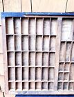 Large Letterpress Wooden Printers Drawer Tray Wall Display Curio Shadow Box