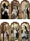 12 HALLOWEEN WITCHES GRAVEYARD HANG GIFT TAGS FOR SCRAPBOOK PAGES 21