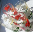 Vintage Glass Lot Boscul Dogwood Pink White Flower
