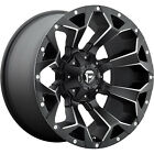 20x12 Black Fuel Assault D546 5x55  5x150 43 Wheels CT404 LT35x1350R20 Tires