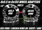 4 WHEEL ADAPTERS 6X55 TO 6X135  15 INCH USE FORD WHEELS ON CHEVY 14X15 STUDS