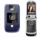 Motorola RAZR V3x Black Unlocked Cellular Phone Flip Camera Bluetooth