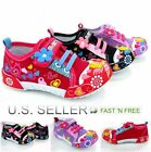 Girls Toddler Little Kid Flower Canvas Shoes Infant Baby Soft Sole Stick Lace