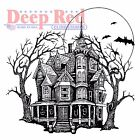 Halloween Haunted Mansion Cling Unmounted Rubber Stamp DEEP RED 4X505563 New