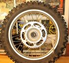 2000 HONDA XR250R   REAR WHEEL ASSEMBLY WITH GOOD TIRE AS SHOWN