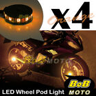 Custom Center Orange 5050 LED Wheel Pod Accent Light Set For Aprilia Motor Bike