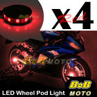 Custom Center Red 5050 LED Wheel Pod Accent Light Set For KTM Motor Bike