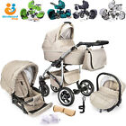 Baby Pram 3in1 Pushchair Buggy With Car Seat Carrycot Travel System From Birth